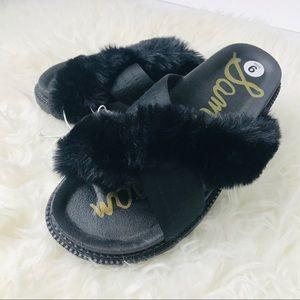 NEW Sam Edelman Bianca Faux Fur Sandal Slides Sz 6